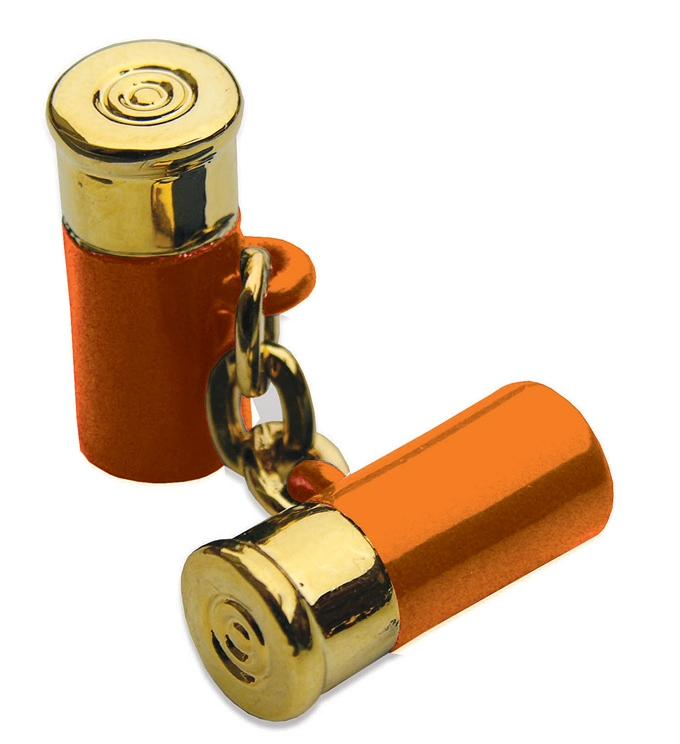 12 Gauge Cufflinks - Orange