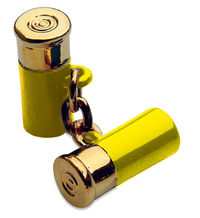 12 Gauge Cufflinks - Yellow