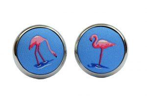 Flamingo Flamenco: Cufflinks - Blue