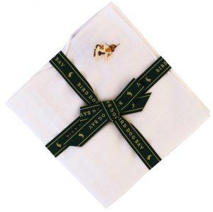 Hook Em': White Linen Pocket