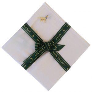 Yellow Lab: White Linen Pocket