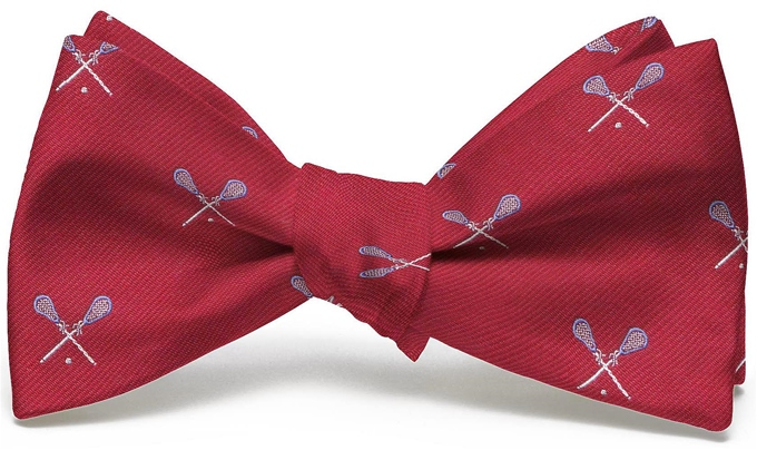 Lacrosse English Woven Pedigree: Bow - Red