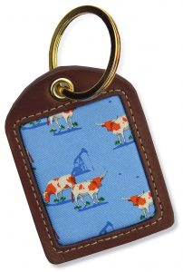 Longhorns: Key Chain - Light Blue
