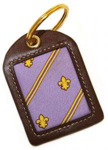 Fleur Stripe: Key Chain - Violet