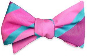 Simply Satin Stripe: Bow - Pink