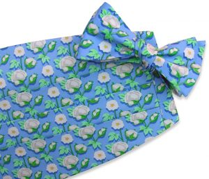 Cotton Boll: Cummerbund - Blue