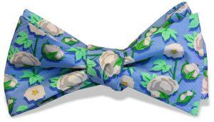 Cotton Boll: Bow - Blue