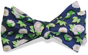 Cotton Boll: Bow - Navy