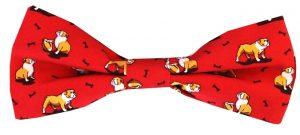 Bulldog Bonanza: Boy's Bow - Red