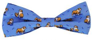 Bulldog Bonanza: Boy's Bow - Blue
