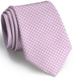 Houndstooth: Tie - Light Pink