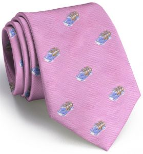 Woody English Woven Pedigree: Tie - Pink