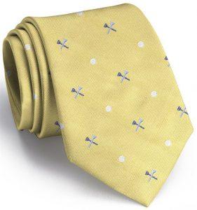Tee Time English Woven Pedigree: Tie - Yellow