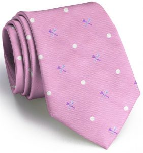 Tee Time English Woven Pedigree: Tie - Pink