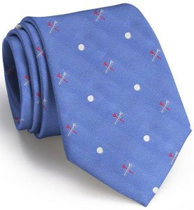Tee Time English Woven Pedigree: Tie - Blue