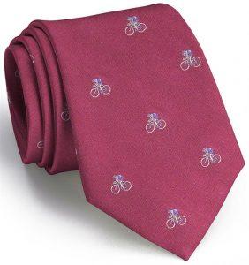 Cyclist English Woven Pedigree: Tie - Fuchsia