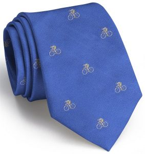 Cyclist English Woven Pedigree: Tie - Blue