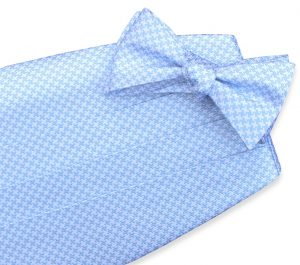 Houndstooth: Cummerbund - Light Blue