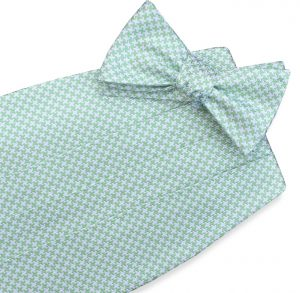 Houndstooth: Cummerbund - Light Green