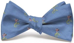 Mermaid English Woven Pedigree: Bow - Blue