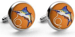 Marlin Madness: Cufflinks - Orange