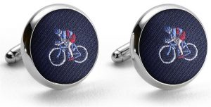 Pedigree Cyclist: Cufflinks - Navy