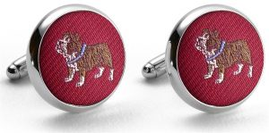 Pedigree Bulldog: Cufflinks - Red