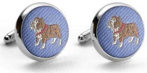 Pedigree Bulldog: Cufflinks - Blue