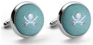 Pedigree Jolly Roger: Cufflinks - Aqua