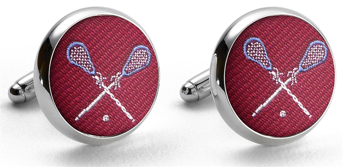 Pedigree Lacrosse: Cufflinks - Red