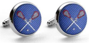 Pedigree Lacrosse: Cufflinks - Blue