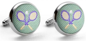 Pedigree Tennis Racket: Cufflinks - Mint