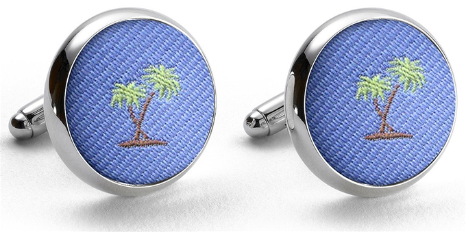 Pedigree Palm Trees: Cufflinks - Blue