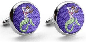 Pedigree Mermaid: Cufflinks - Violet