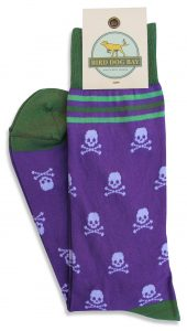 Skull Repeat: Socks - Purple