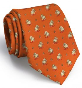 Duck Dogs: Tie - Orange with Yellow