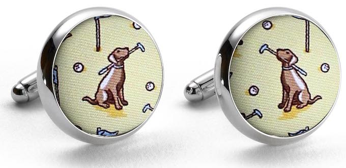 Dogleg on Six: Cufflinks - Yellow