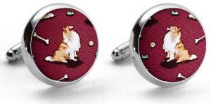 Lucky Lassie: Cufflinks - Maroon