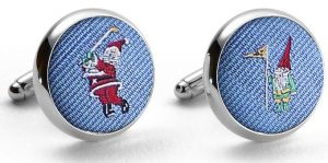 Pedigree Swingin' Santa: Cufflinks - Blue