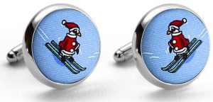 Black Diamond Penguin: Cufflinks - Blue
