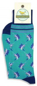 Marlin Madness: Socks - Turquoise