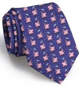 Pink Elephant: Tie - Navy