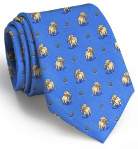 Duck Dogs: Tie - Blue with Yellow