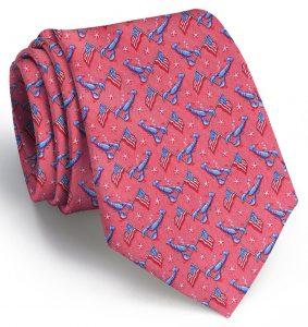 Patriotic Pinchers: Tie - Fuchsia