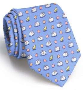 Bunny Meeting You Here: Tie - Blue