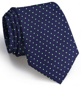Sutton Spots: Tie - Navy/Lime