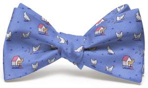 Fox In The Hen House: Bow - Blue