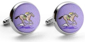 And They're Off: Cufflinks - Violet