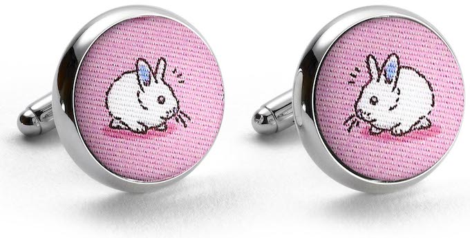 Bunny Meeting You Here: Cufflinks - Pink