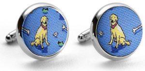 Give A Dog A Bone: Cufflinks - Blue